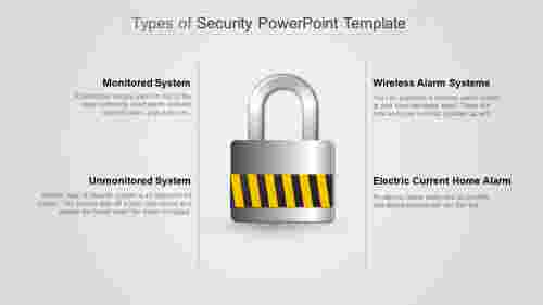 A four noded security powerpoint template