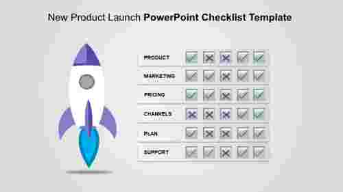 A six noded powerpoint checklist template