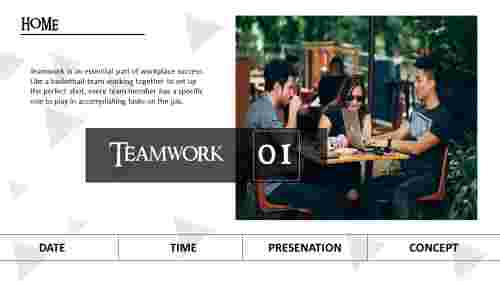 A one noded teamwork slides powerpoint