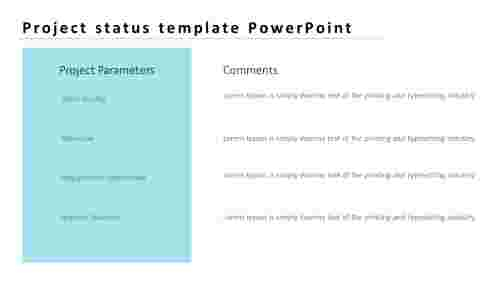project status template PowerPoint for presentation