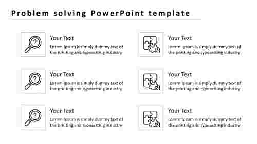 problem solving PowerPoint template with icons