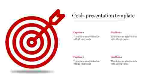 Goals presentation template-Bullseye design