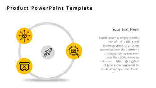 Product PowerPoint template with product icons