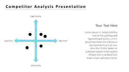 competitor analysis presentation with arrow design
