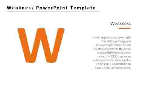 WeaknessPowerPointTemplate-alphabetmodel