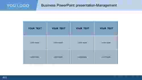 Business PowerPoint presentation - Table model