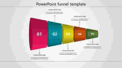 Powerpoint funnel template - Horizontal