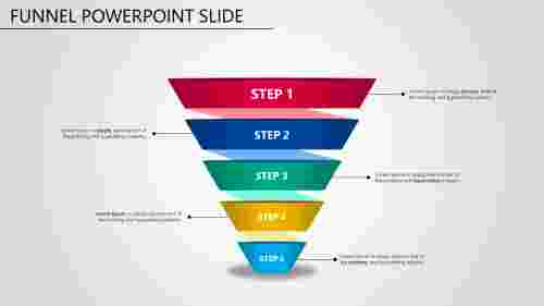Free - Connected Funnel Powerpoint Slide