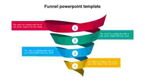 Funnel PowerPoint template - spiral model
