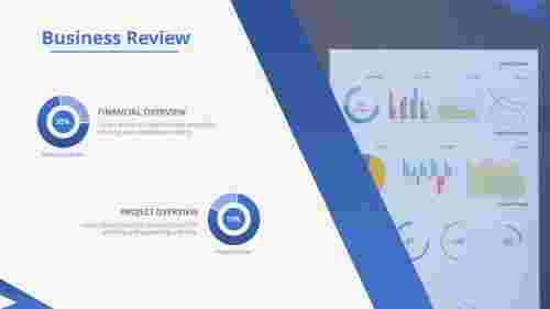 A two noded business review template powerpoint