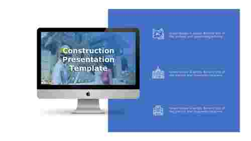 Construction presentation template-Three points