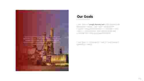 Our goals PowerPoint presentation template