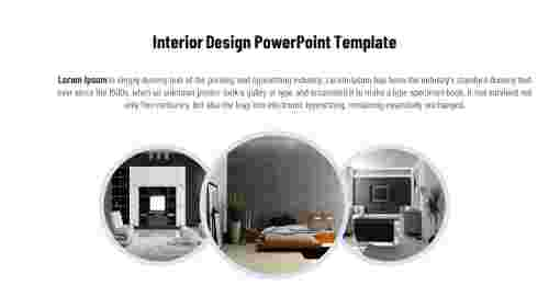 Interior design PowerPoint presentation templates-Circle model