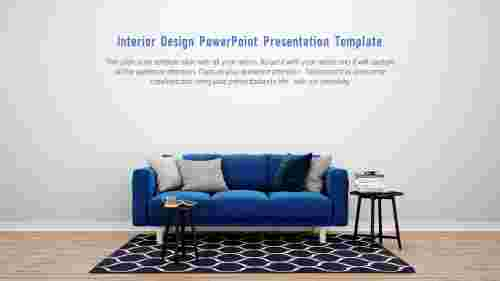 Interior design powerpoint presentation template-Living room
