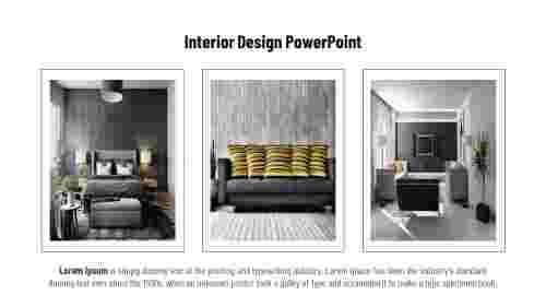 Interior design PowerPoint presentation template-Three designs