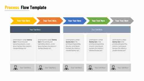Process flow PPT template for Business
