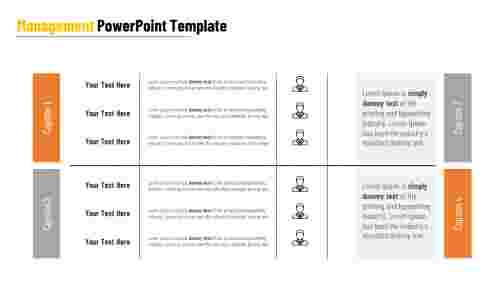 Management PowerPoint template for company