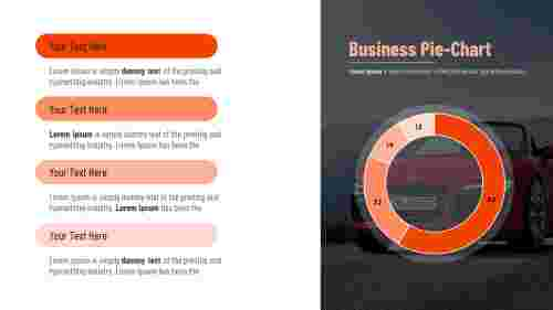 PowerPoint pie chart template for business