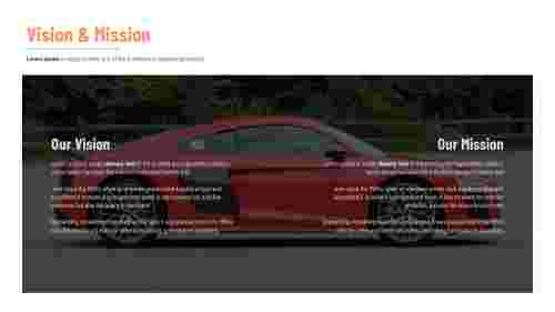 Mission vision PowerPoint template for company business