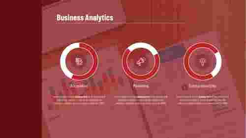 Business analytics PowerPoint-Pie chart Model