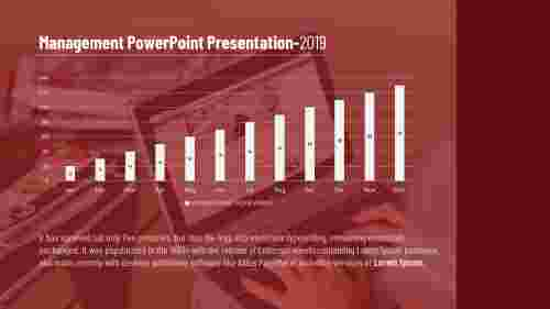 Management PowerPoint presentation-column chart