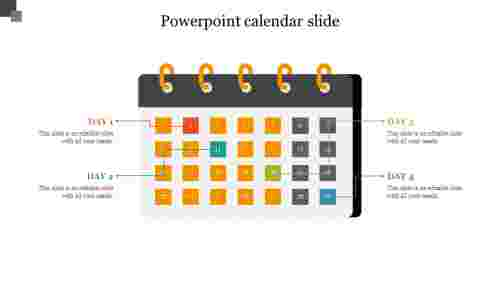 PowerPoint calendar slide Design