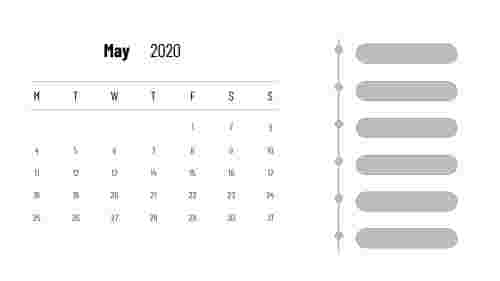 May 2020 - PowerPoint calendar slide