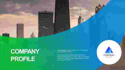 Company profile presentation - Title slide