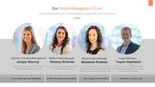 Our project management PowerPoint template