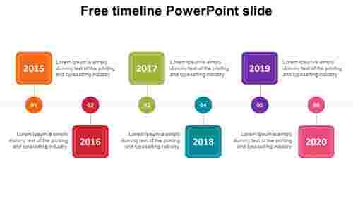 Neat PPT free timeline powerpoint slide