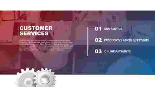 Best customer service PowerPoint template