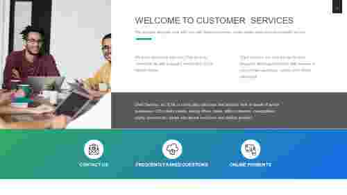 Simple customer service PowerPoint template