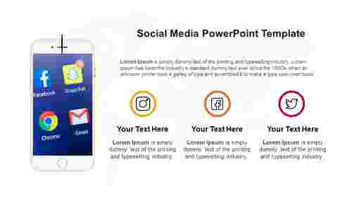 Simple Social media PowerPoint template