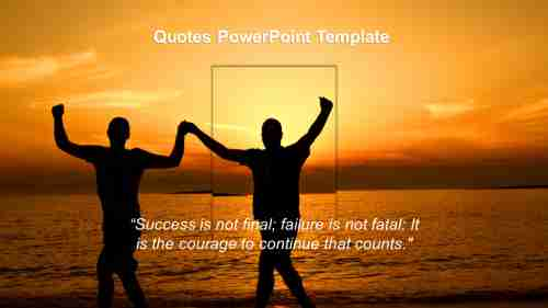 QuotesPowerPointtemplateaboutsuccess