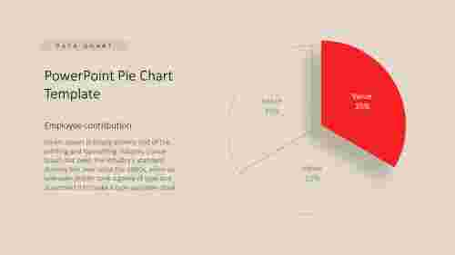 PowerPoint pie chart template for data analysis