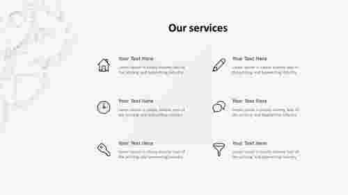 OurservicesPPTtemplate-Sixservices