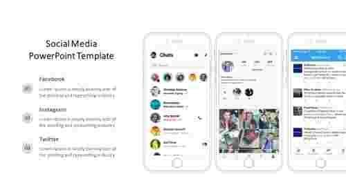 Social media PowerPoint template - Mobile view