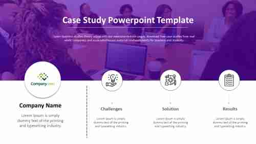 case study PowerPoint template presentation Free