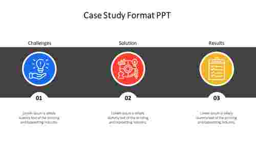 Simple case study format PPT template