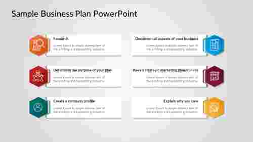 Sample Business Plan PowerPoint template