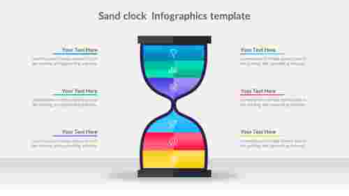 Sand clock Infographics template in PowerPoint