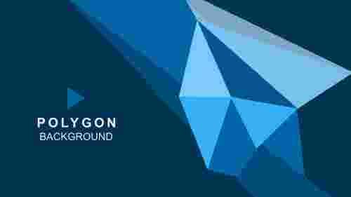 BluepolygonbackgroundinPowerPointtemplate