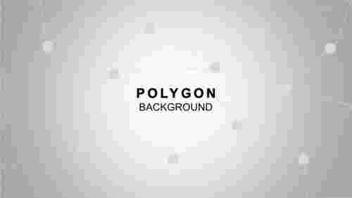 PolygonalbackgroundwithdotandlinesPowerPointtemplate