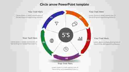 Simple circle arrow PowerPoint template