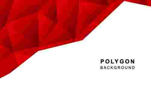 RedpolygonalbackgroundPowerPointtemplate