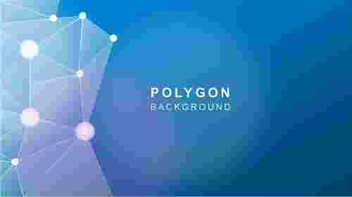 AbstractbluepolygonbackgroundPowerPointtemplate