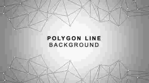 Graypolygonallinebackgroundtemplate