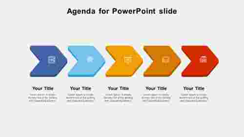 agenda for powerpoint slide-5-multi color