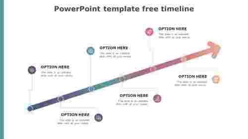 Arrow model PowerPoint template free timeline