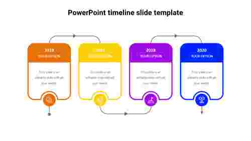 4 Years PowerPoint timeline slide template